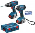 BOSCH 18V GSB18-2-Li & GDR18V-Li TWIN PACK WITH 2 x 1.3AH LITHIUM BATTERIES & L-BOXX �240.00